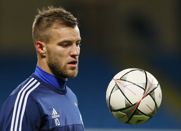 Football Soccer - Dynamo Kiev Training - Etihad Stadium, Manchester, England - 14/3/16 Dynamo Kiev's Andriy Yarmolenko during training Action Images via Reuters / Jason Cairnduff Livepic EDITORIAL USE ONLY. - RTX295BU